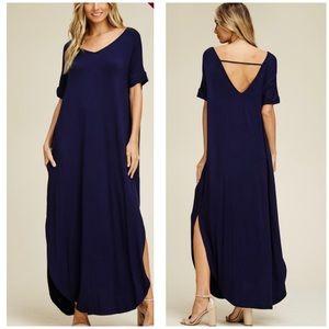 Dresses & Skirts - New Plus Size Navy Blue Oversized Maxi Dress